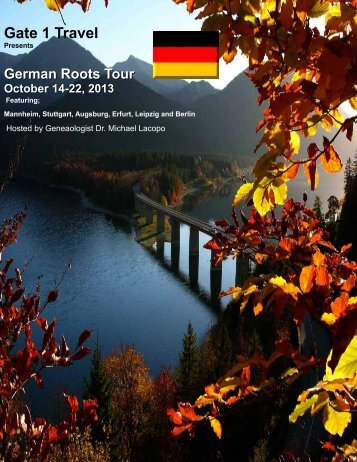 German Roots Tour October 14-22, 2013 - Gate 1 Travel