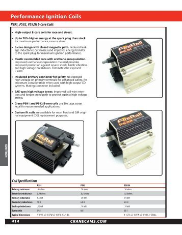 Performance ignition coils - Crane Cams
