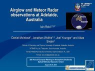 Airglow and Meteor Radar observations at Adelaide, Australia ...