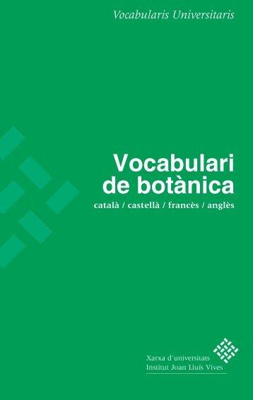 Vocabulari de botànica - Dipòsit Digital de la UB - Universitat de ...