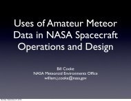 Bill Cooke - International Meteor Organization