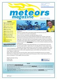 Contents August 2011 Edition - Meteors Triathlon Club