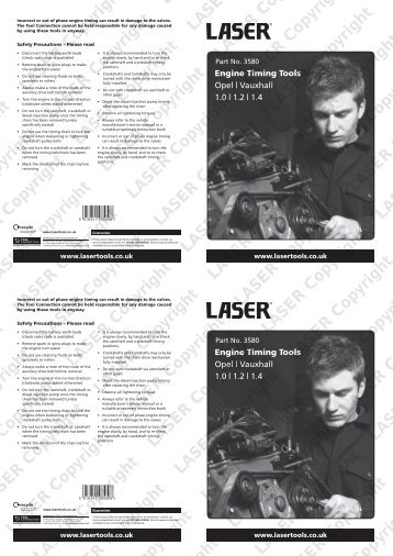 Engine Timing Tools - Laser Tools