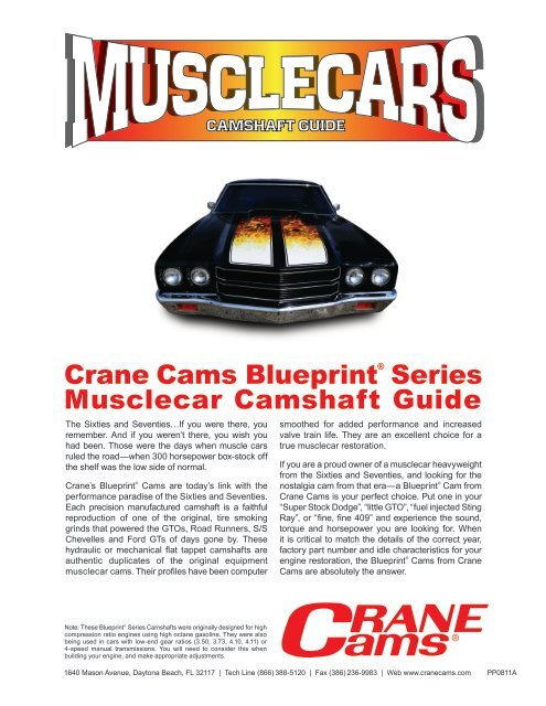 Crane Cams Blueprint® Series Musclecar Camshaft Guide