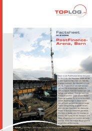 Factsheet PostFinance- Arena, Bern - Baukoma AG