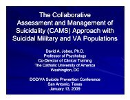 The Collaborative Assessment and Management of Suicidality ...