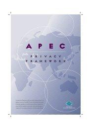 APEC Privacy Framework - Asia-Pacific Economic Cooperation