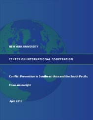 i Conflict Prevention in Southeast Asia and the South Pacific