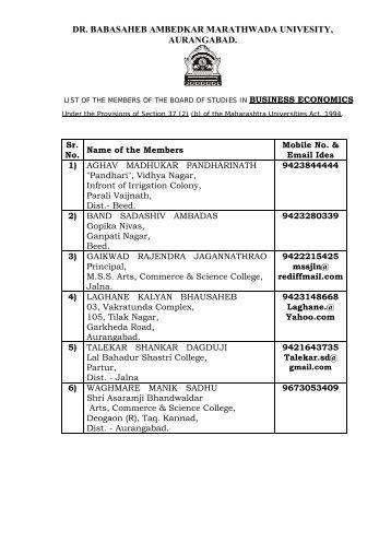 Commerce - Dr.Babasaheb Ambedkar Marathwada University ...
