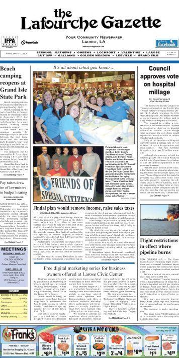 Sunday, March 17, 2013 - The Lafourche Gazette