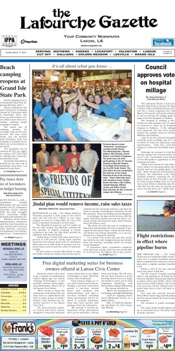 Sunday, March 17, 2013 - The Lafourche Gazette