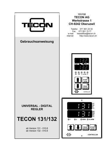 DIGITAL REGLER TECON 131/132 - Tecon AG