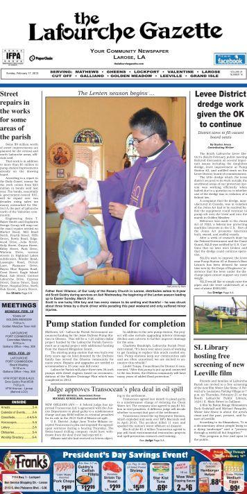 Sunday, February 17, 2013 - The Lafourche Gazette