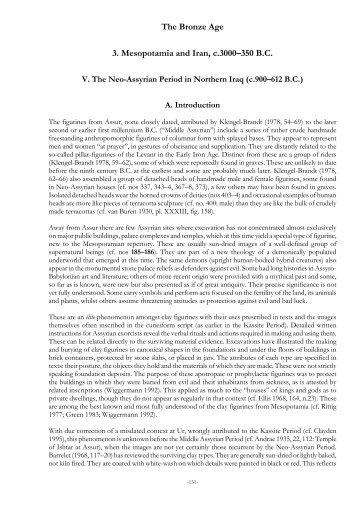 The Bronze Age: Mesopotamia and Iran