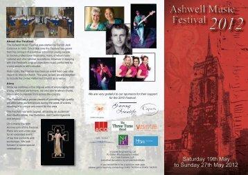 Saturday 19th May to Sunday 27th May 2012 - Ashwell Music Festival