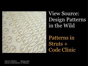 View Source: Design Patterns in the Wild Patterns in ... - Courses