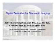 Digital Detective for Electronic Imaging Ashwin Swaminathan, Min ...