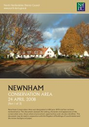 Newnham Conservation Area Appraisal - North Hertfordshire District ...