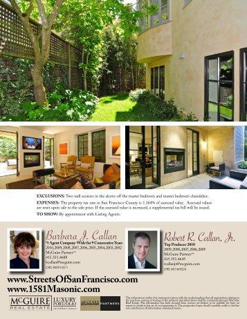 Barbara J. Callan Robert R. Callan, Jr. - McGuire Real Estate