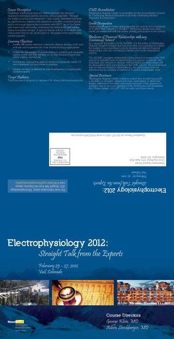 Electrophysiology 2012: - Washington Hospital Center