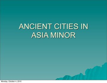 ANCIENT CITIES IN ASIA MINOR - SPUR