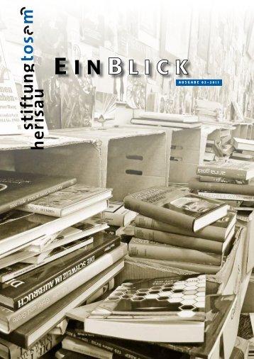 Einblick 03/2011 - Stiftung Tosam