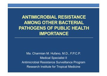 antimicrobial resistance among other bacterial pathogens of public ...