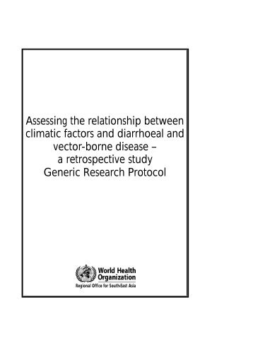 Assessing the relationship between climatic factors and diarrhoeal