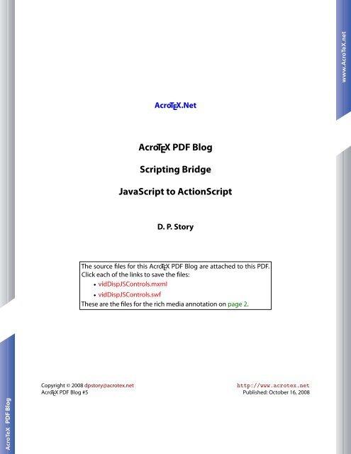 AcroTeX PDF Blog: Scripting Bridge--JavaScript to ActionScript