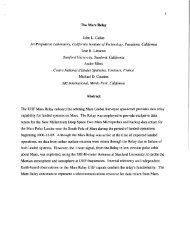 1 The Mars Relay John L. Callas Jet Propulsion Laboratory ...