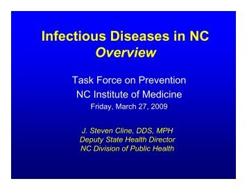 Infectious Diseases in NC Overview - North Carolina Institute of ...