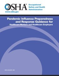 Pandemic Influenza Preparedness and Response Guidance - OSHA