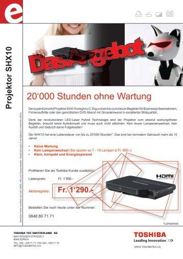 Projektor SHX10 - Toshiba TEC Switzerland AG