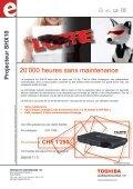 Projektor SHX10 - Toshiba TEC Switzerland AG - Page 2