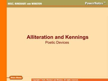 Alliteration and Kennings