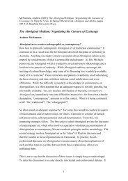 The Aboriginal Medium: Negotiating the Caesura of ... - QUT ePrints