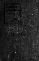 Tennyson: select poems edited with introduction and notes