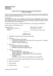 Séance du 15 décembre - Communauté de Communes Gâtine ...