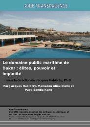 Le domaine public maritime de Dakar - Aide Transparence