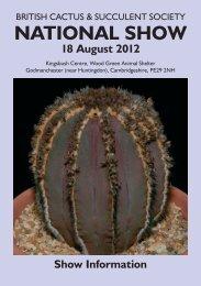 NATIONAL SHOW - British Cactus & Succulent Society