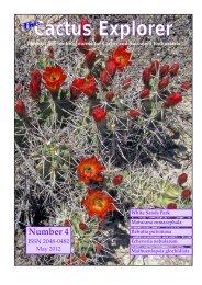 Cactus Explorers Journal - The Cactus Explorers Club