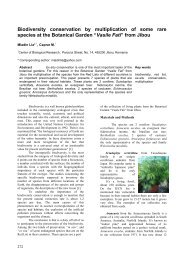 Biodiversity conservation by multiplication of some rare species at ...