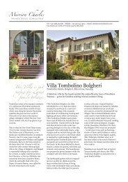 Villa Tombolino Bolgheri - Merrion Charles