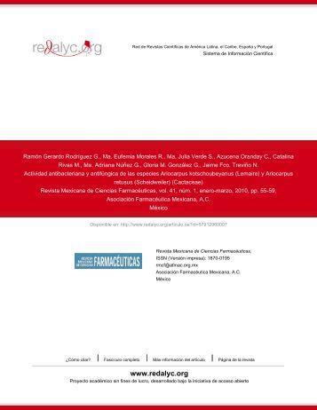 Redalyc.Actividad antibacteriana y antifúngica de las especies ...