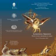 Ludovico Ariosto - Scuola Normale Superiore