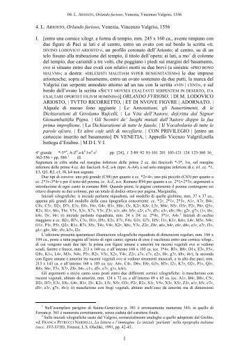 1 4. L. ARIOSTO, Orlando furioso, Venezia, Vincenzo Valgrisi, 1556 I ...