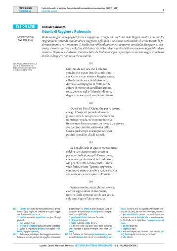 Ludovico Ariosto Il duello di Ruggiero e ... - Palumbo Editore