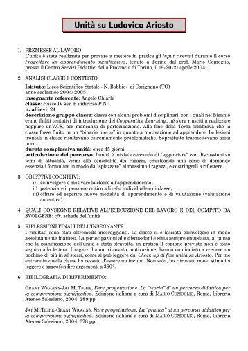 Unità su Ludovico Ariosto - Progetto ICT2 - Siti web cooperativi per ...