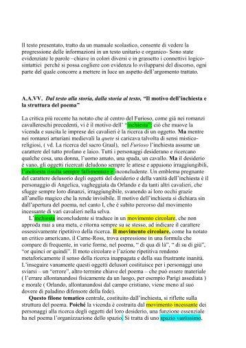 Il motivo dell'inchiesta e la struttura del poema - Liceo Minghetti