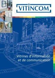 Vitrines d'information et de communication